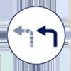 less left turns  icon