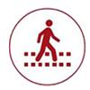 no sidewalk icon