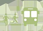 bike ped bus icon
