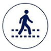 pedestrian feedback sign icon