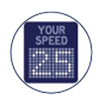 speed feedback sign icon