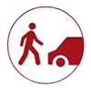unsafe crossing icon